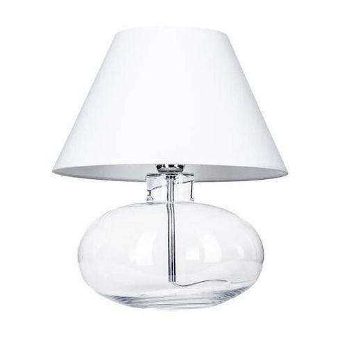 4concepts Lampa stołowa lampka bergen 1x60w e27 biały abażur l007071111