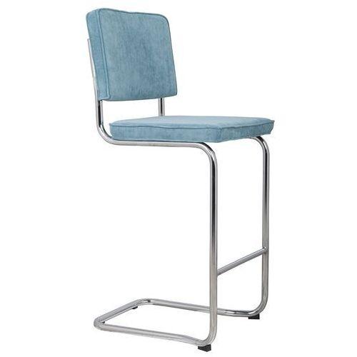 stołek barowy ridge kink rib niebieski 12a 1500006 marki Zuiver
