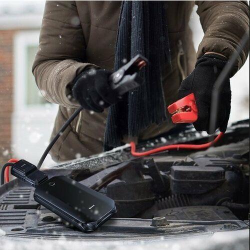Baseus Car Jump Starter | Power Bank z funkcją rozruchu samochodu + kable KLEMY latarka 8000mAh 5V/2.4A