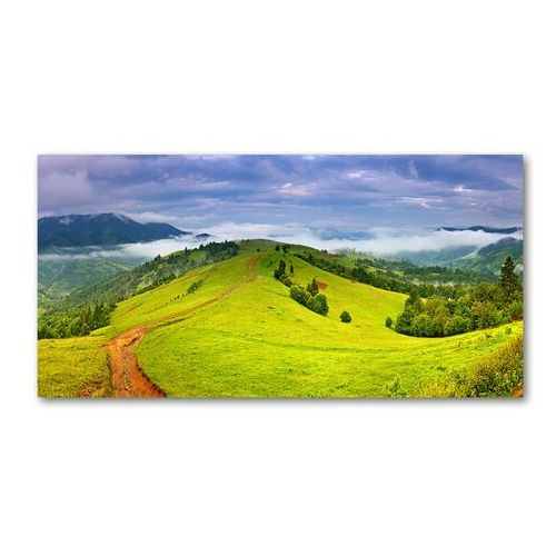 Foto obraz szkło akryl Zielone wzgórza
