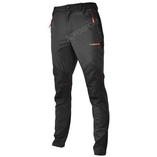 Spodnie trekkingowe viking alaska man czarny / pomarańczowy m marki 4f