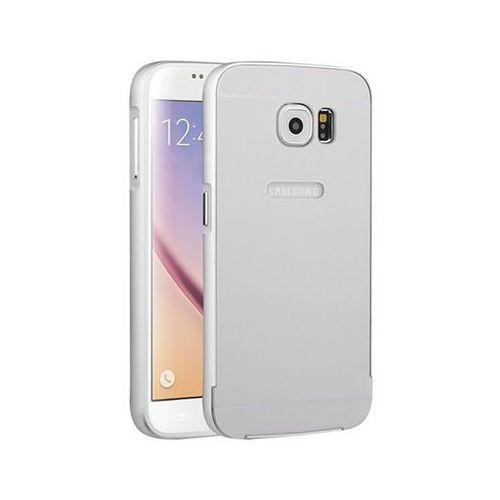 Etui bumper case aluminiowe do samsung galaxy s6 srebrne - srebrny marki 4kom.pl