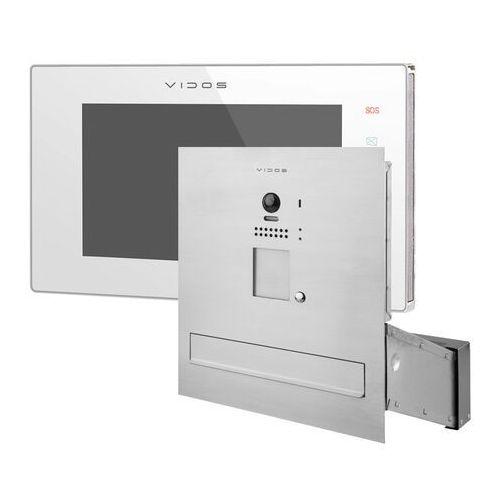 Zestaw wideodomofonu cyfrowego skrzynka na listy s1201a-skm m1021w marki Vidos