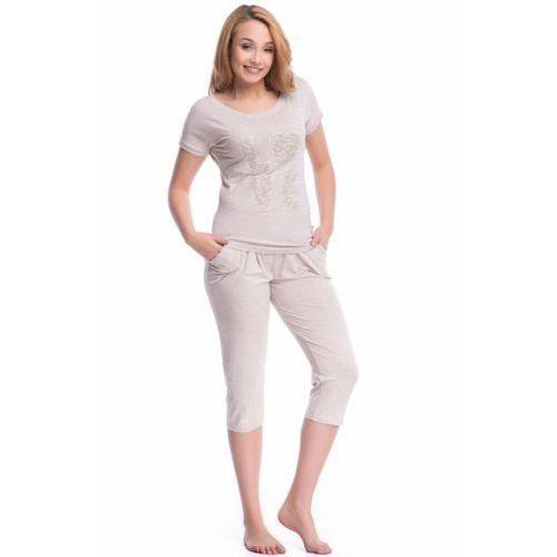 Piżama damska model pw.7031 beige melange marki Dobranocka