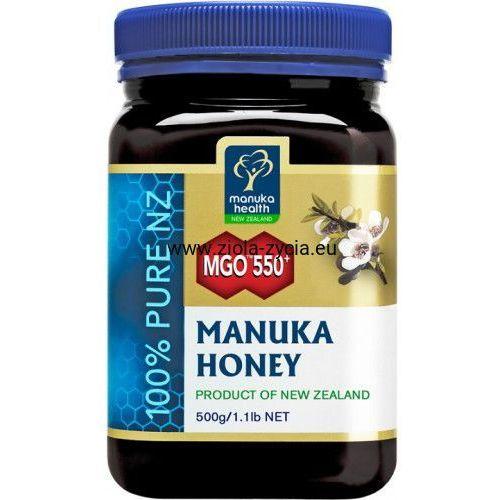 Miód manuka mgo™ 550+ nektarowy 500g - marki Manuka health