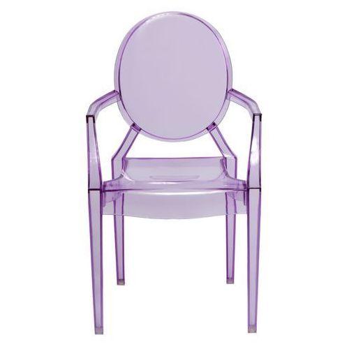 Krzesło dziecięce Royal Jr fioletowy transparentny MODERN HOUSE bogata chata