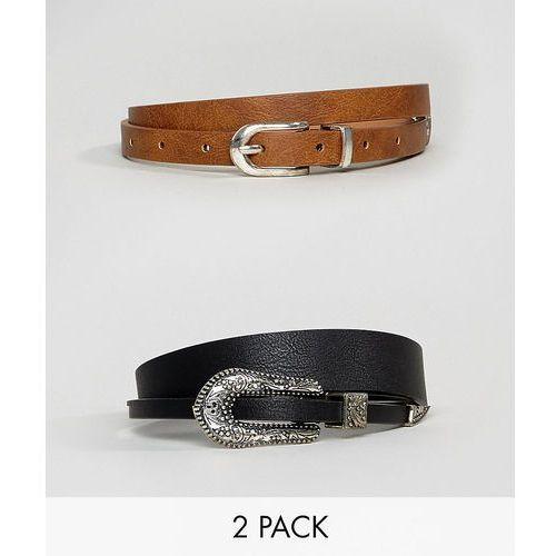 design 2 pack western waist and hip belt in water based pu - multi marki Asos
