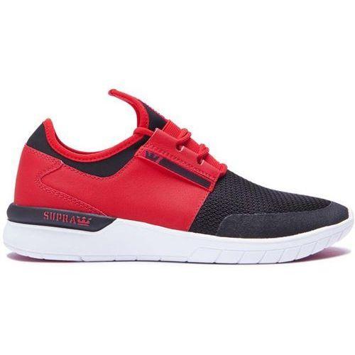 buty SUPRA - Flow Run Red/Black-White (604) rozmiar: 44.5, kolor czerwony