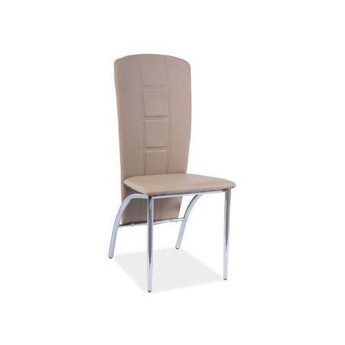 Nowoczesne krzesło h-120 ciemny beż marki Signal
