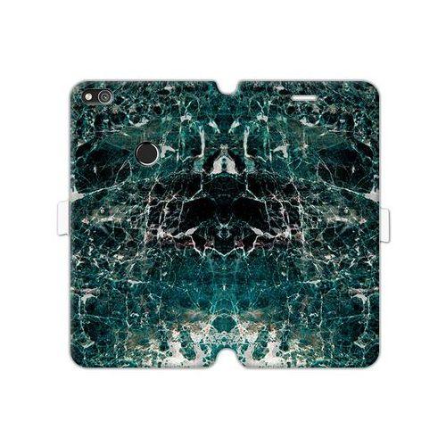 Huawei P8 Lite (2017) - etui na telefon Wallet Book Fantastic - zielony marmur, ETHW502WBFCFB031000