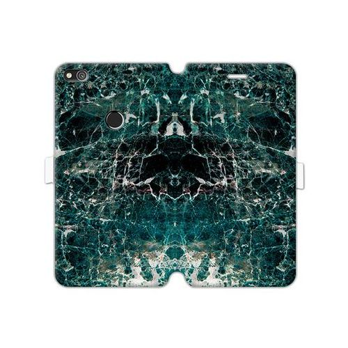 Huawei P8 Lite (2017) - etui na telefon Wallet Book Fantastic - zielony marmur
