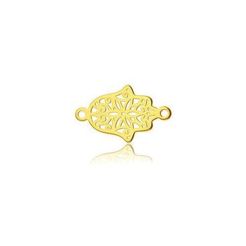 Ażurowa Ręka Fatimy - łącznik, złoto próby 585 BL 265