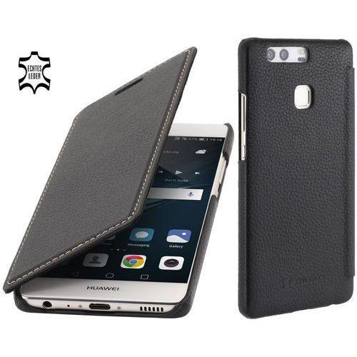 Stilgut Book Czarne | Etui z klapką typu książka dla modelu Huawei P9, kolor czarny