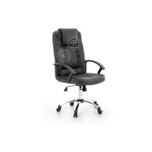 Krzesło biurowe czarne skóra ekologiczna funkcja masażu relax marki Beliani