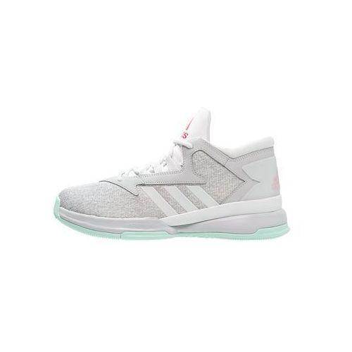 adidas Performance STREET JAM II Obuwie do koszykówki light grey heather/ray red/ice green