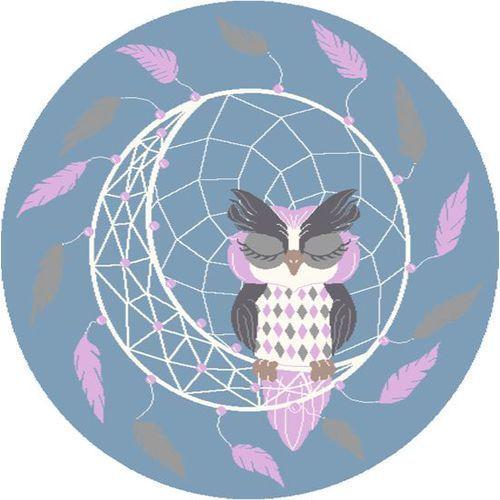 Dywan soft dreamcatcher pink/róż (koło) 80x80 marki Agnella