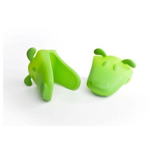 Gadget master Silikonowa łapka piesek - złap gorące naczynia - zielona - zielony