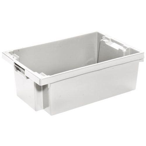 Werit kunststoffwerke Obrotowy pojemnik do ustawiania w stos z hdpe, poj. 32 l, ścianki i dno zamknięt