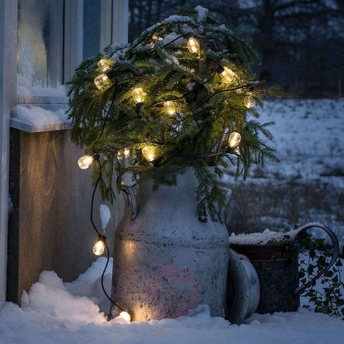 Konstmide christmas Łańcuch świetlny biergarten 20 kropli ciepła biel