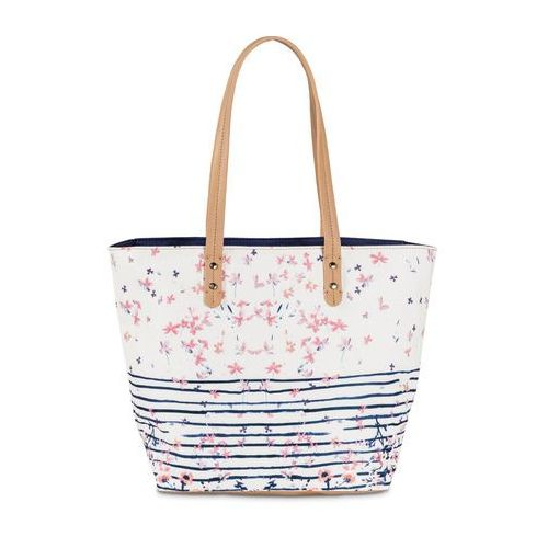 Torba shopper w kwiaty bonprix biały w kwiaty