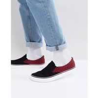 Brave soul checker slip on plimsolls - black