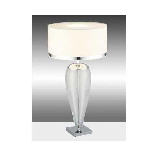 Argon Stojąca lampka nocna lorena 366 abażurowa lampa stołowa przezroczysta biała