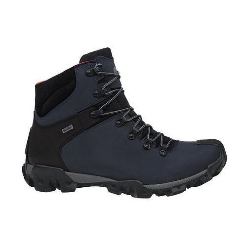 Trzewiki trekkingowe BADURA 4567-434 Granatowe SympaTex - Granatowy
