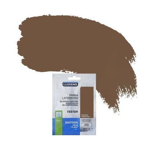 Tester farby DO ŚCIAN I SUFITÓW NARAŻONYCH NA ZABRUDZENIA 25 ml Mleczna czekolada LUXENS (5901171187208)