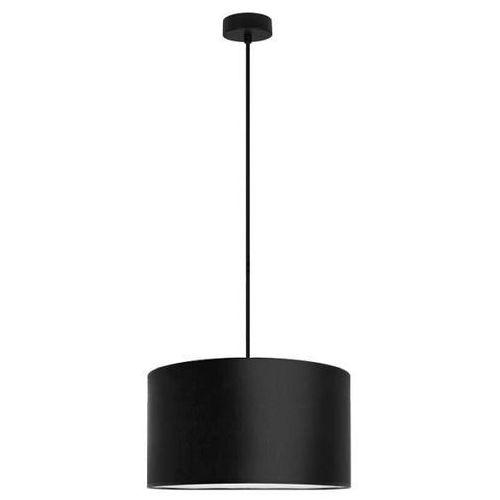 Klasyczna LAMPA wisząca MIKA L1/S/BLACK Sotto Luce abażurowa OPRAWA okrągła czarna, kolor Czarny