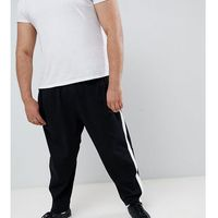 big & tall player logo jogger zip hem side tape in black - black marki Polo ralph lauren