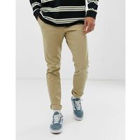 wood chinos in beige - grey, Weekday