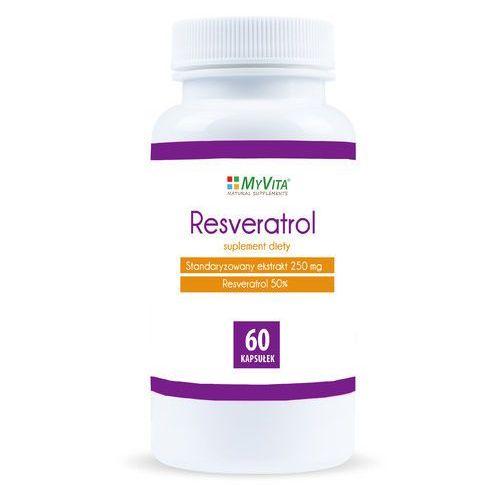 Resveratrol standaryzowany resweratrol ekstrakt 250mg 60 tabletek MyVita (5906395684717)