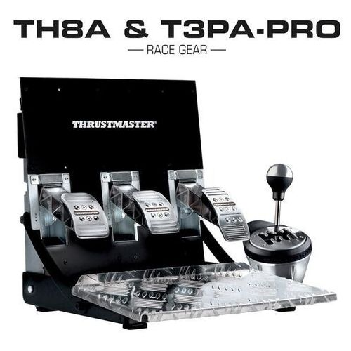 Thrustmaster zestaw skrzynia th8a + pedaly t3pa pro pc xbox ps3 ps4, 4060130