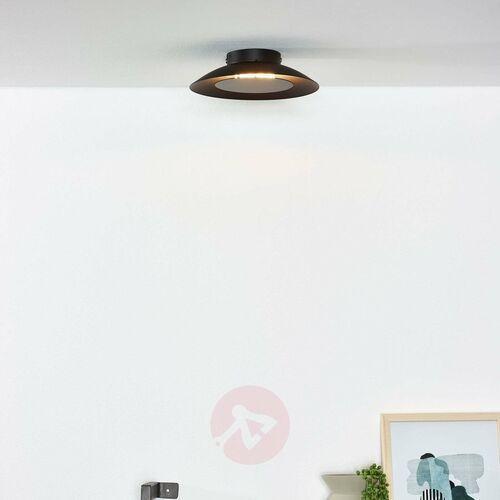 LAMPA sufitowa FOSKAL 79177/06/30 Lucide natynkowa OPRAWA plafon LED 6W spodek czarny, kolor Czarny