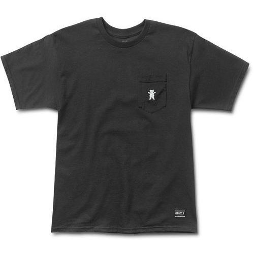 Grizzly Koszulka - og bear embroidered pkt tee black and white (bkwh) rozmiar: l
