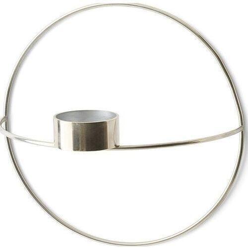 Menu Świecznik pov circle ścienny na tealight, s, srebrny -