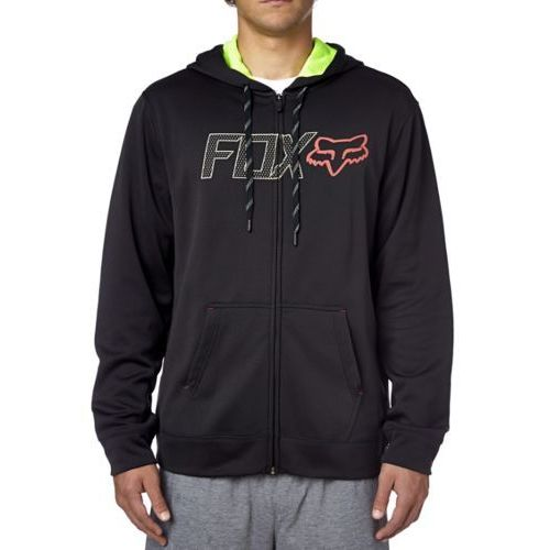 Bluza  z kapturem na zamek spark plug black marki Fox