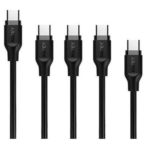 Kabel USB -USB Typ C AUKEY 1x2m 3x1m 1x0.3m (5902666661241)