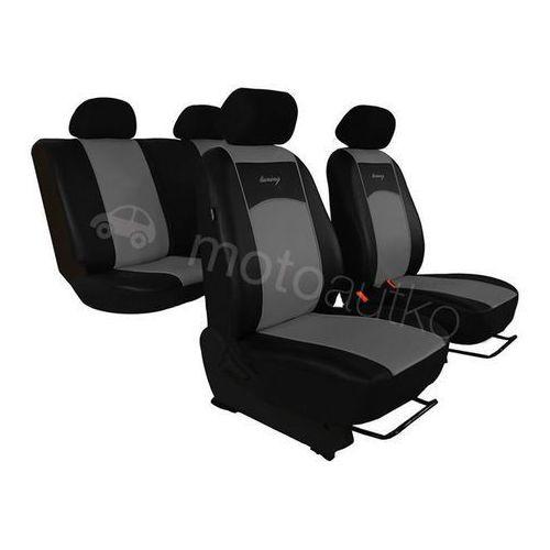 Pokrowce samochodowe uniwersalne Eko-skóra Szare Honda CR-V IV 2012-2015 - Szary