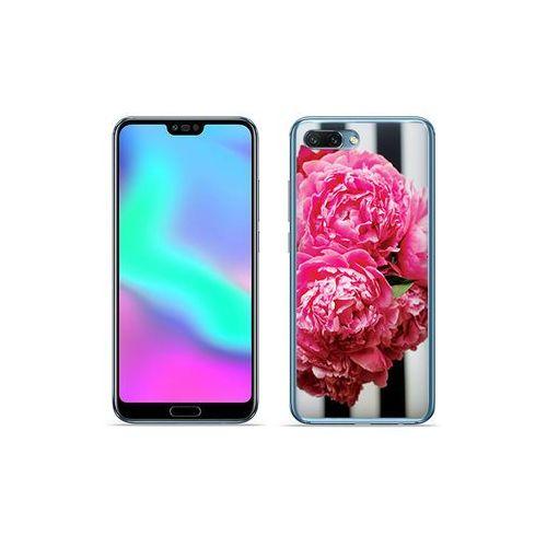 Huawei Honor 10 - etui na telefon Foto Case - różowe kwiaty, kolor różowy