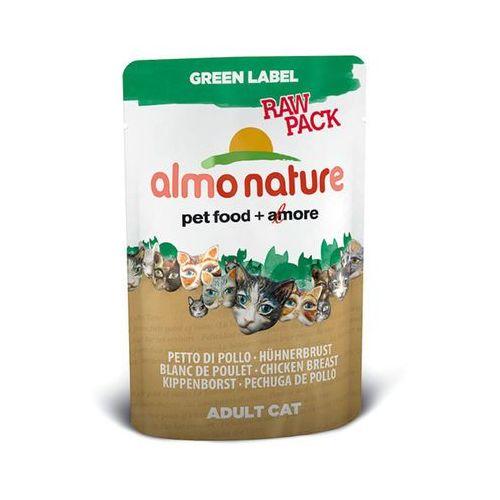 ALMO NATURE Green Label Raw Filet z kurczaka - saszetka 12x55g