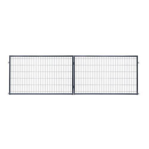 Brama panelowa 400 x 120 cm antracyt (5903641450287)