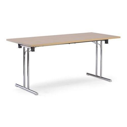 Stół składany, szkielet z podwójnego teownika z rurki stalowej z prostymi płozam marki Friwa sitzmöbel