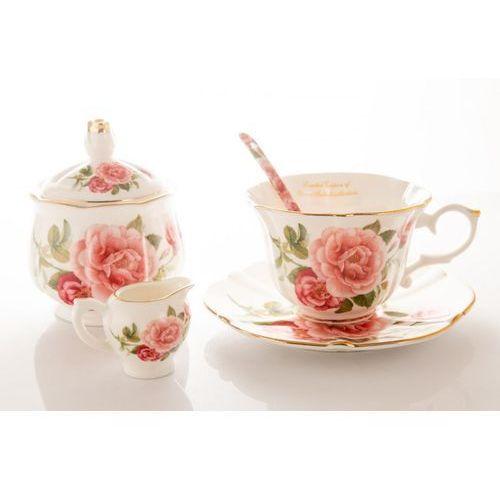 Queen isabell 2 filiżanka mleczniki cukiernica serwis do kawy