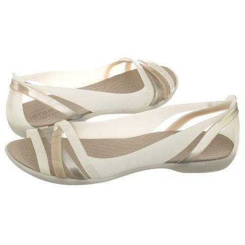 28960d80a402f Sandały Crocs Isabella Huarache 2 Flat W Oyster Cobblestone 204912-1C4  (CR143-