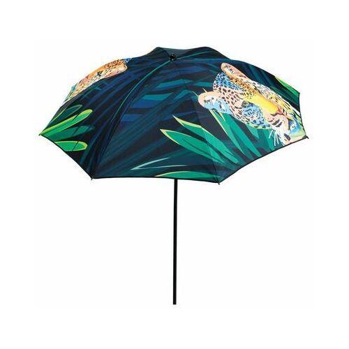 Parasol przeciwsłoneczny 200 cm TYGRYS niebiesko-zielony okrągły