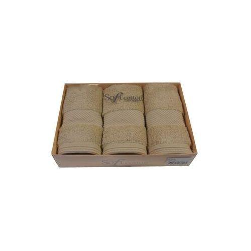 Zestaw podarunkowy małych ręczników DELUXE Jasnobeżowy, 8190_Set3