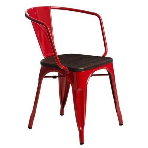 Krzesło Paris Arms Wood czerw. sosna szc zotkowana (5902385726122)