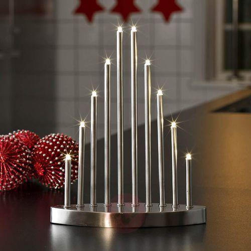 Prosty świecznik LED Aiona, 10-pkt.