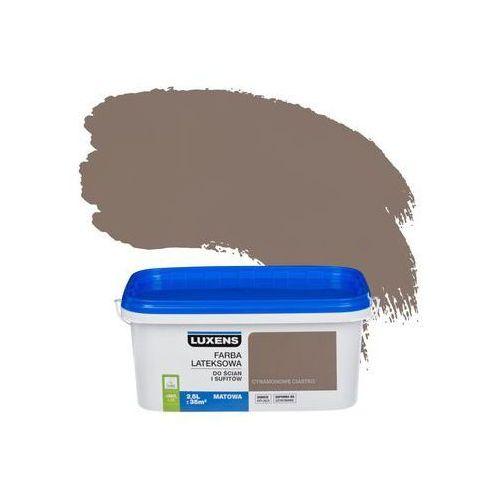 Farba wewnętrzna do ścian i sufitów emulsja 2.5 l cynamonowe ciastko marki Luxens